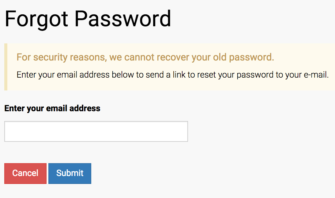 Forgot Password Step 3