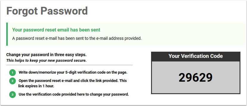Forgot Password Step 4