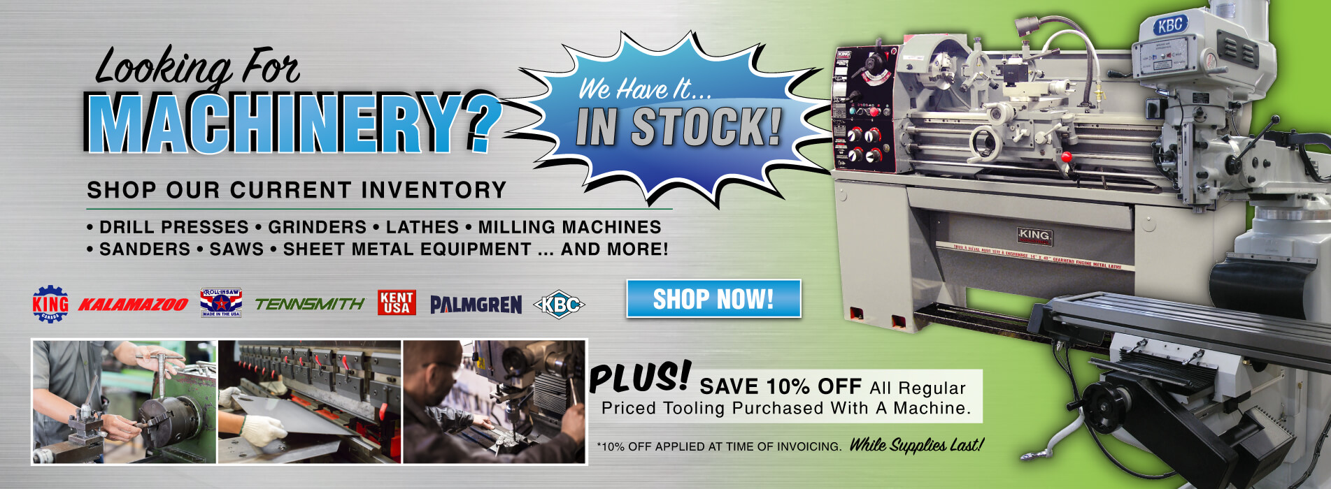 Shop Our In Stock Machinery