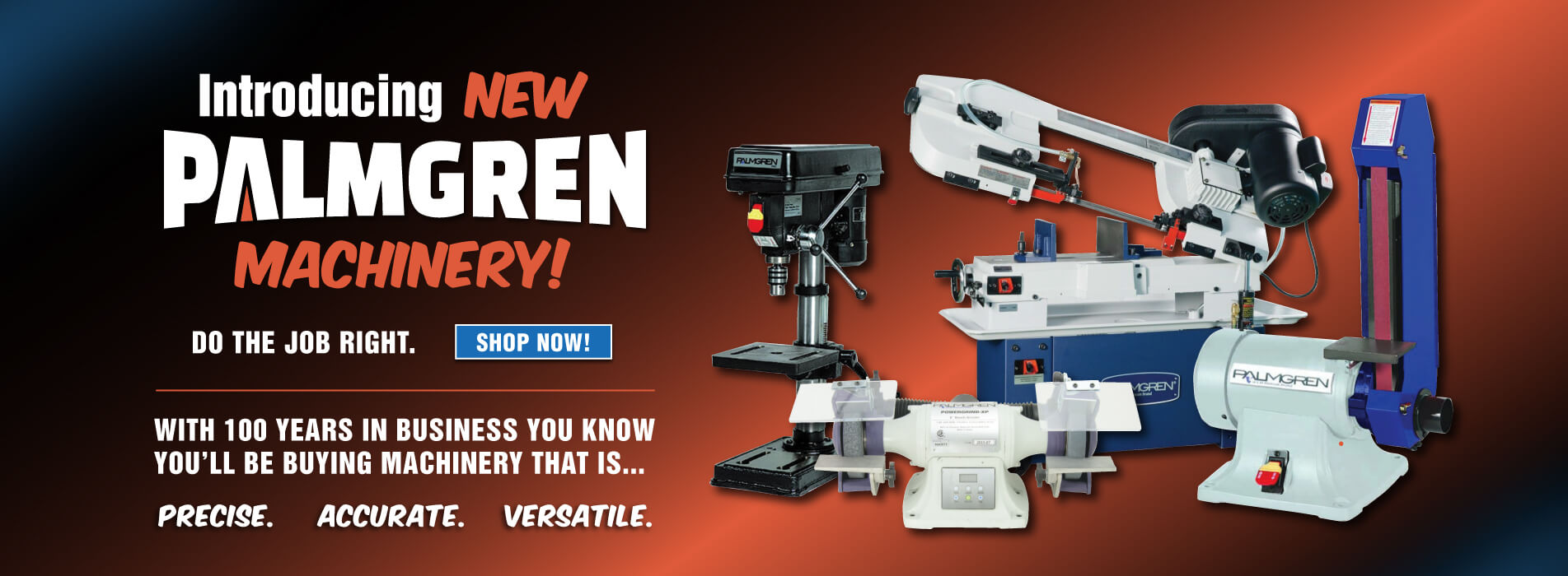 Introducting new Palmgren Machines!