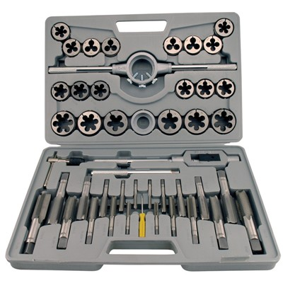 45PC METRIC TAP&DIE SET HIGH SPEED STEEL