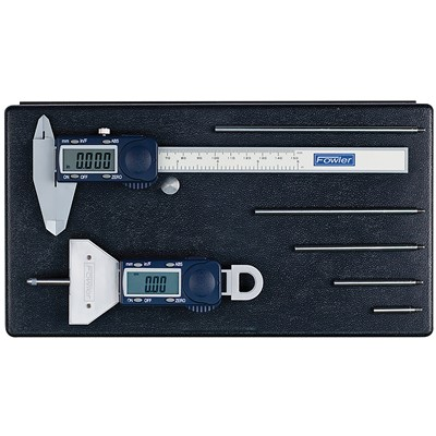 FOWLER XTRA-VALUE DEPTH GAGE&POLYCAL KIT