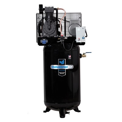 INDUSTRIAL AIR 80GAL AIRCOMPRESSOR 2STG