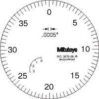 MTI 1IN. .001 LUG BACK DIAL INDICATOR
